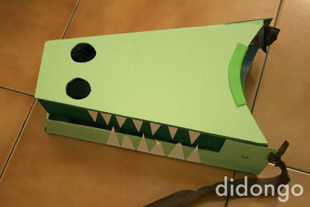 disfraz casero de cocodrilo