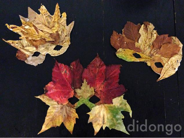 Hacer mascaras con hojas secas