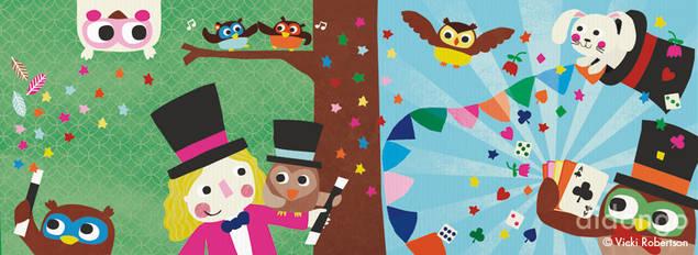 ilustraciones de los kits didongo Vicki robertson