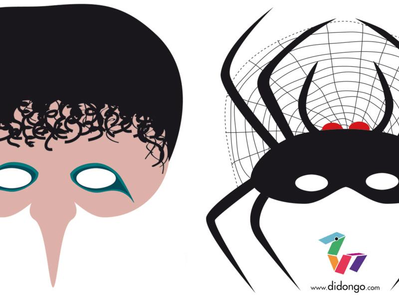 Mascaras imprimibles para Halloween     Didongo
