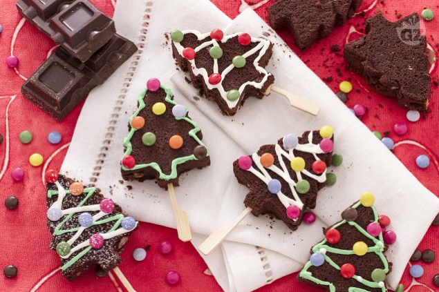 Arbolitos de Navidad de chocolate