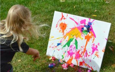 Pintar con huevos